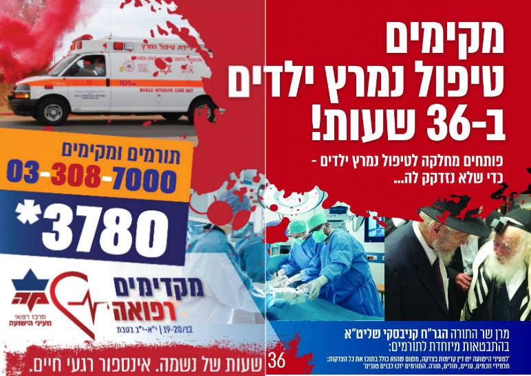 מקדימים רפואה: דובר 'מעיני הישועה' מספר על הקמפיין המיוחד לגיוס המונים 1
