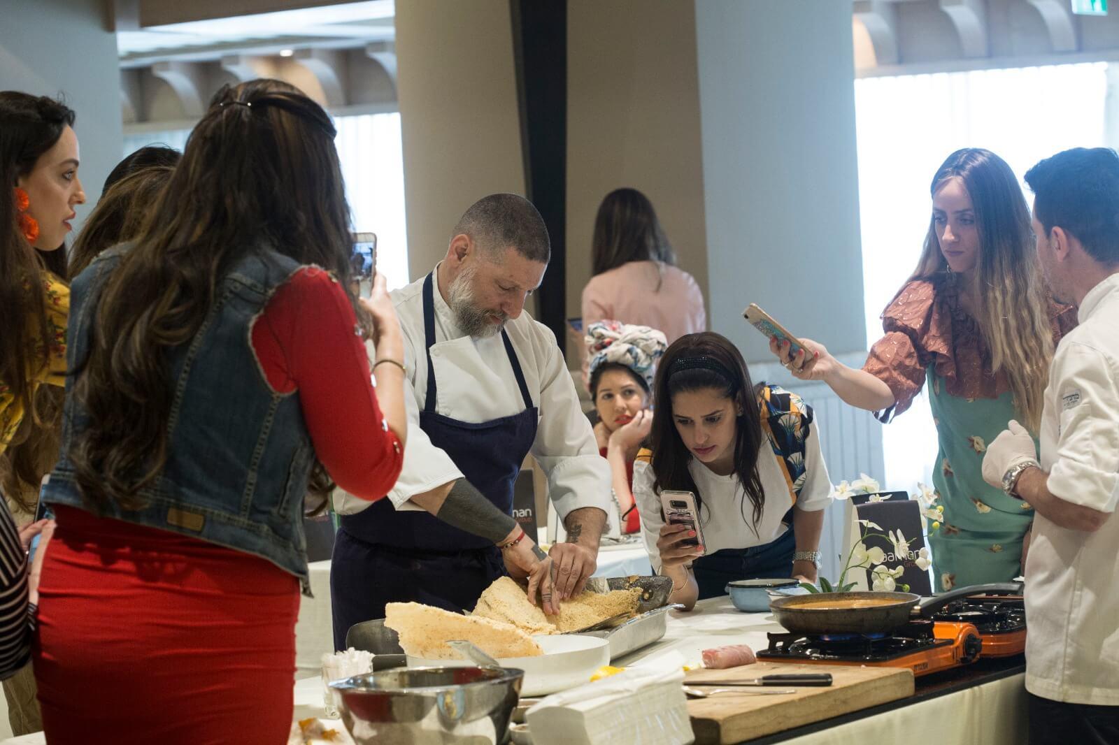 השף אסף גרניט העביר סדנת בישול לעיתונאיות חרדיות 5