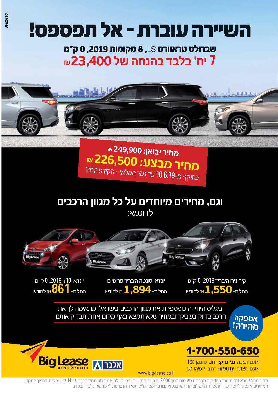 סקירת קטגוריה - רכב: המפרסמים המובילים בעיתוני המגזר החרדי 1